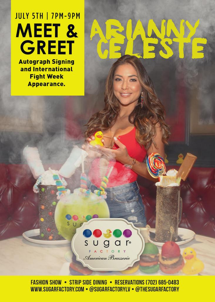 Arianny Celeste at Sugar Factory American Brasserie