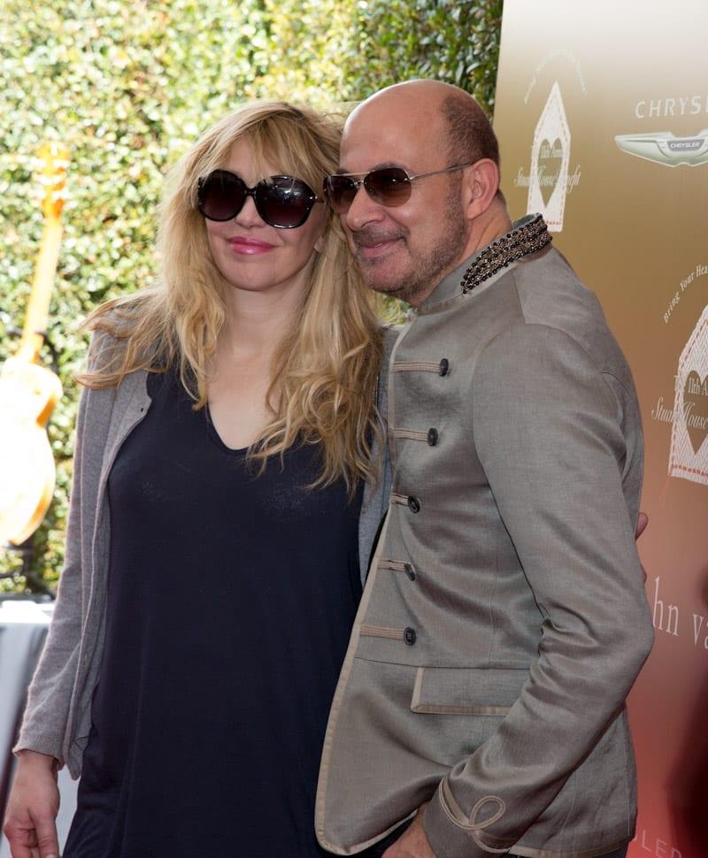John Varvatos and Courtney Love at John Varvatos 11th Annual Stuart House Benefit