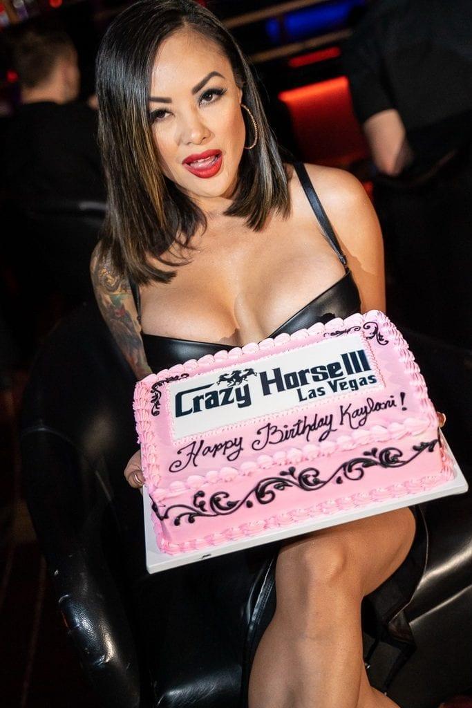 Kaylani Lei with Birthday Cake