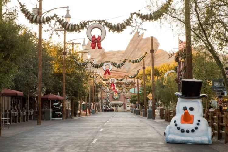 Holidays in Cars Land at Disney California Adventure Park