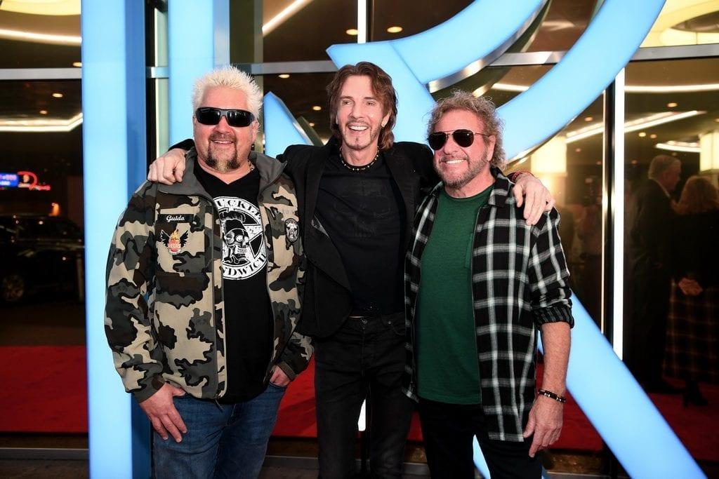 Guy Fieri, Rick Springfield, and Sammy Hagar at The STRAT Hotel, Casino & SkyPod