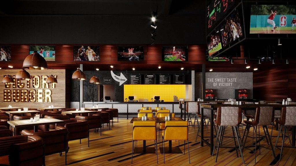Inside Victory Burger & Wings Co. at Circa Resort & Casino