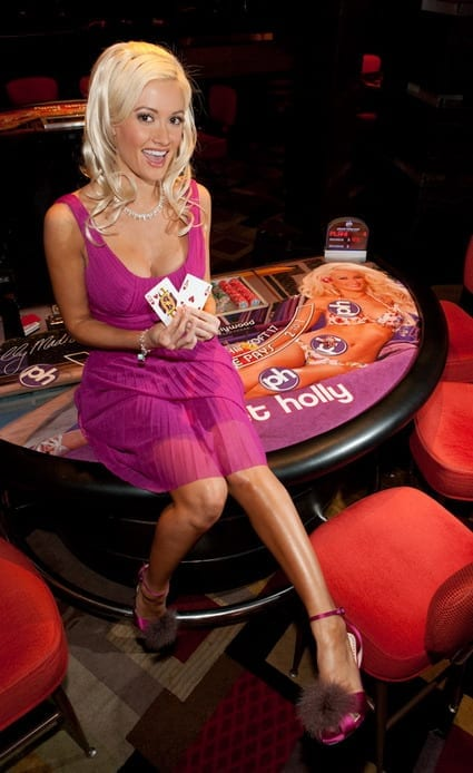 Holly Madison Blackjack Table Felt