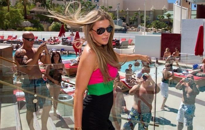 Carmen Electra at Moorea Beach Club