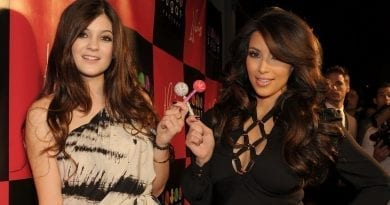 Kim Kardashian and Kylie Jenner with Couture Pops at Sugar Factory