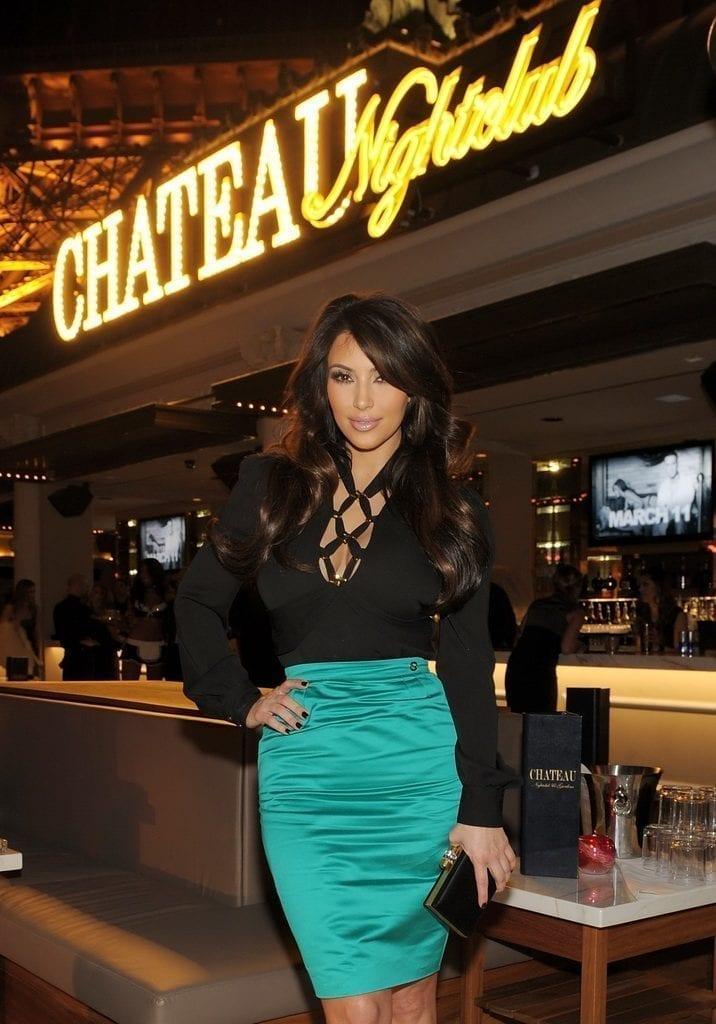 Kim Kardashian at Chateau