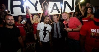 Olympic Swimmer Ryan Lochte Parties at TAO Nightclub