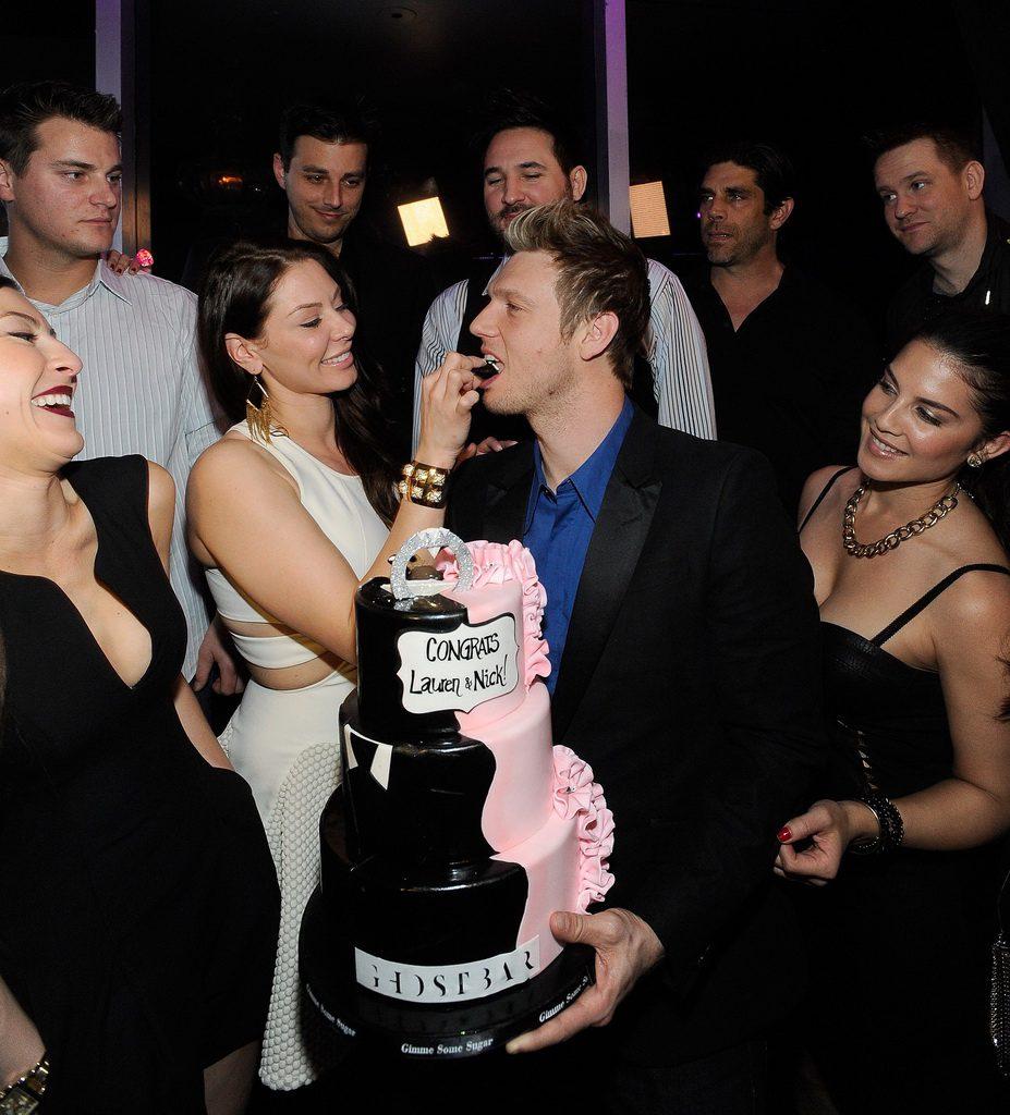 Lauren Kitt feeds Nick Carter cake at Ghostbar (David Becker)