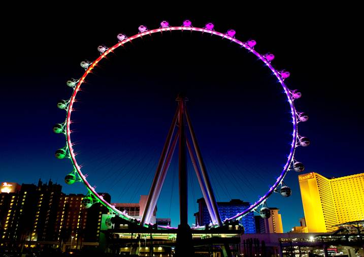 The High Roller welcomes its first ticketed passengers on Monday, March 31.