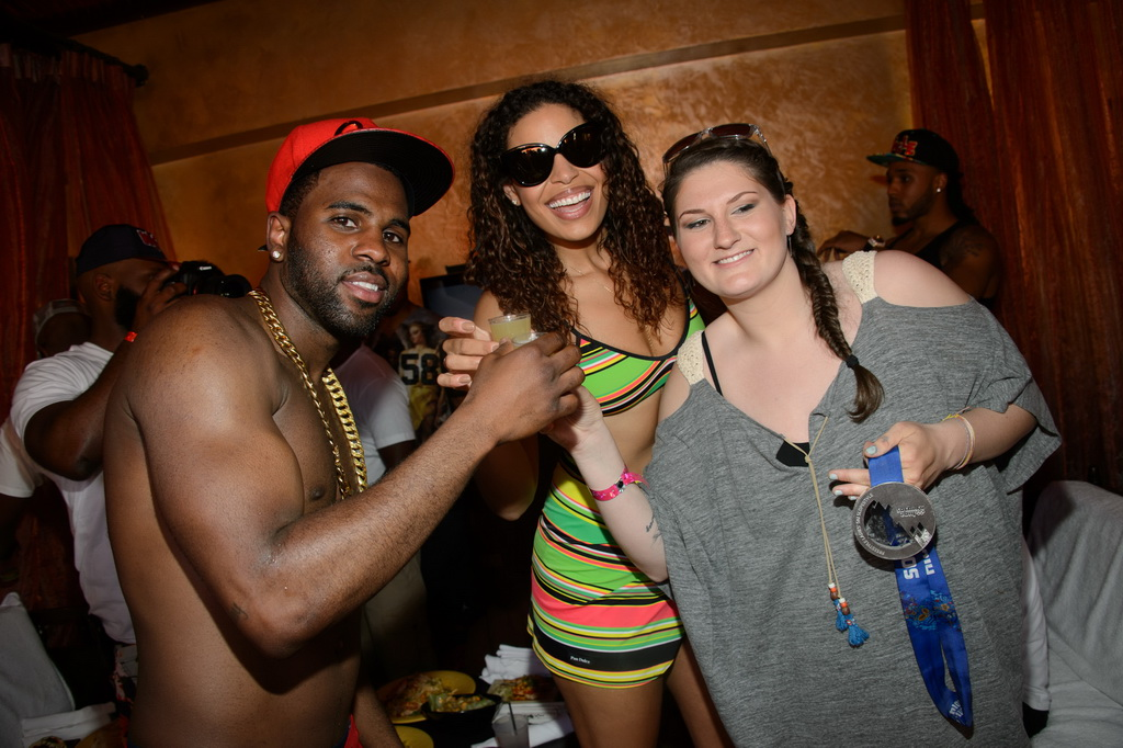 Jason Derulo, Jordin Sparks, and Devin Logan at TAO Beach