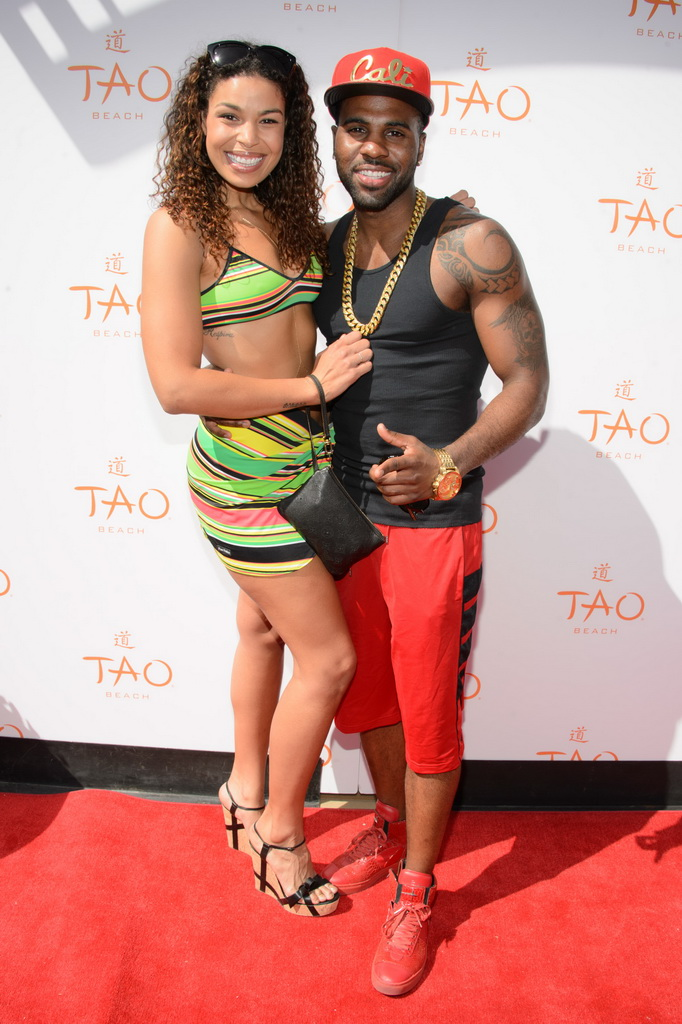 Jason Derulo and Jordin Sparks at TAO Beach