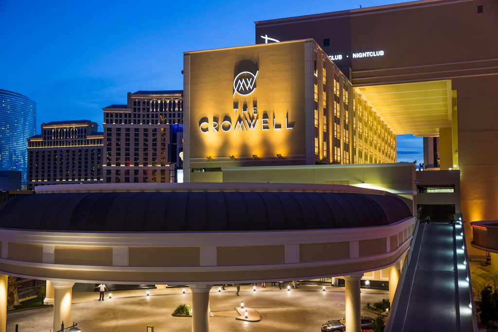 The Cromwell Las Vegas Night Exterior