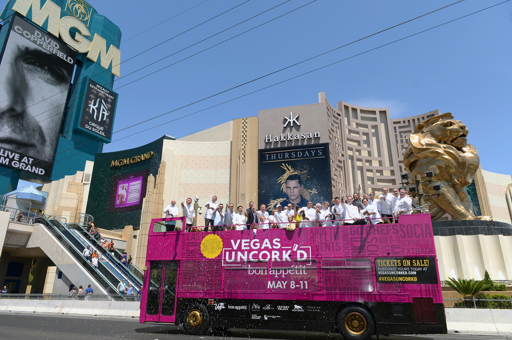 Vegas Uncork'd by Bon Appetit chefs make a quick stop at MGM Grand to kick off the weekend