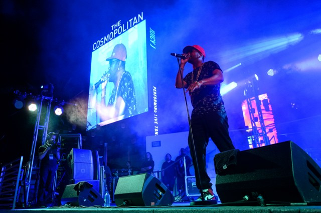 Juicy J performs at the Boulevard Pool
