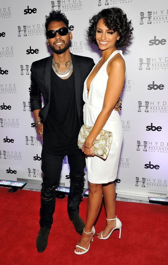 Miguel and Nazanin on the red  carpet at Hyde Bellagio