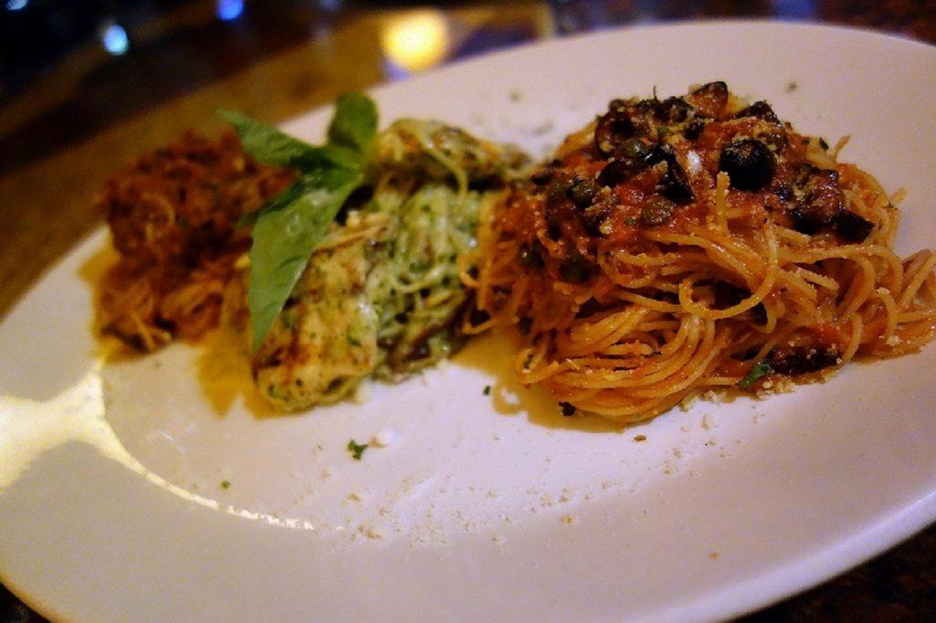Pasta Trio at TREVI Italian Restaurant