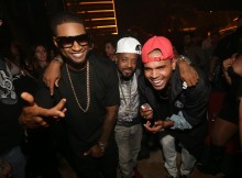 Usher, Jermaine Dupri, and Chris Brown XS