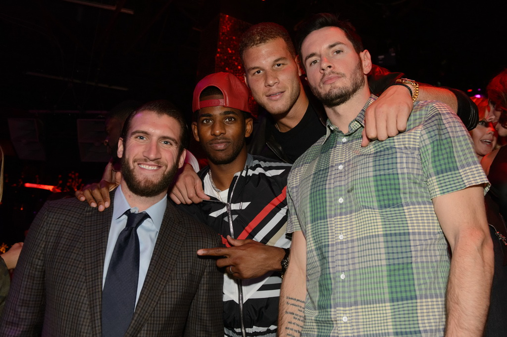 Spencer Hawes, Chris Paul, Blake  Griffin, J.J. Redick at TAO Nightclub