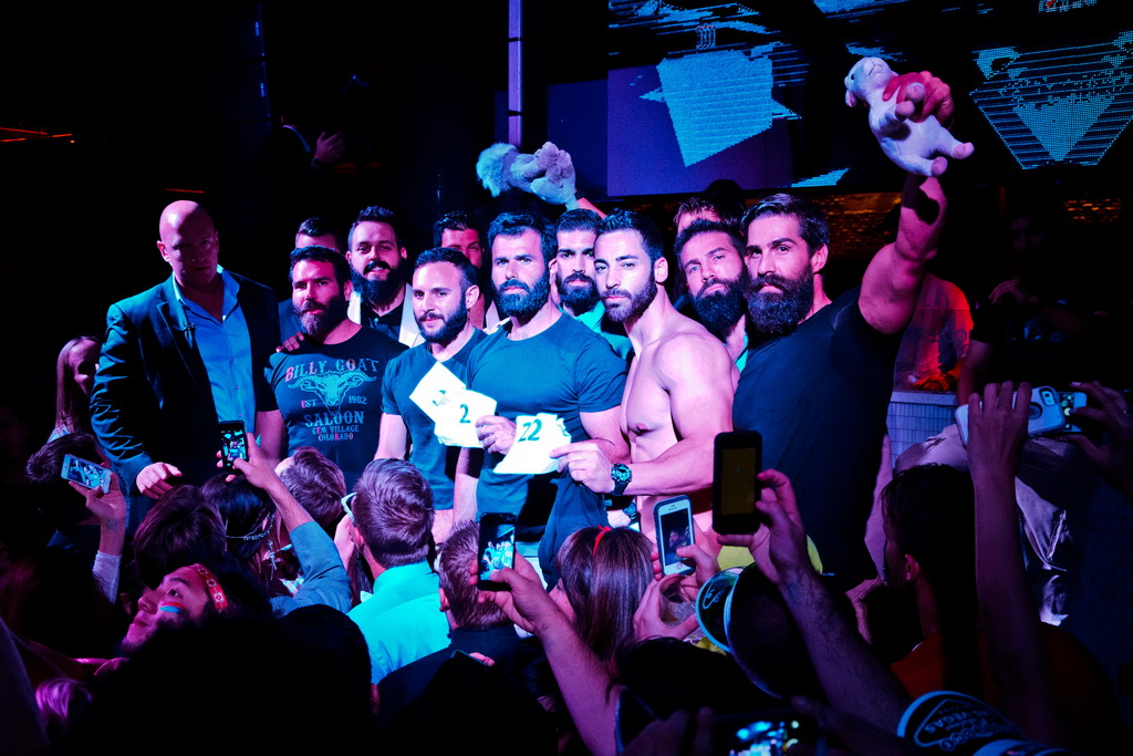Dan Bilzerian With Top 10 Look-A-Like Finalists at Marquee