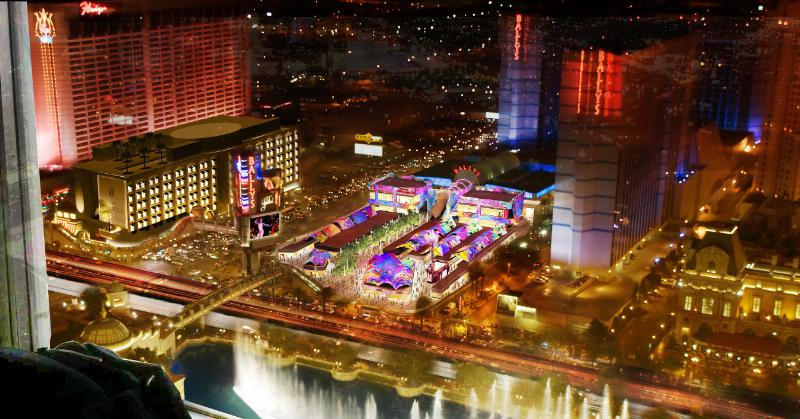 Grand Bazaar Shops Las Vegas - Aerial