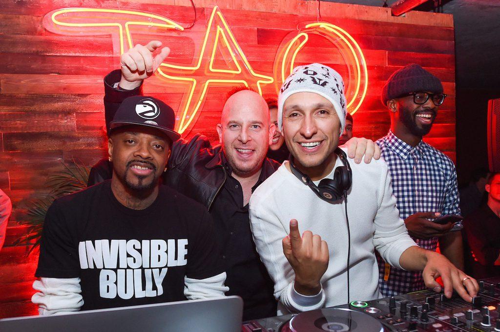 Jermaine Dupri, Noah Tepperberg, and DJ Vice at Elyx presents TAO Nightclub at Sundance
