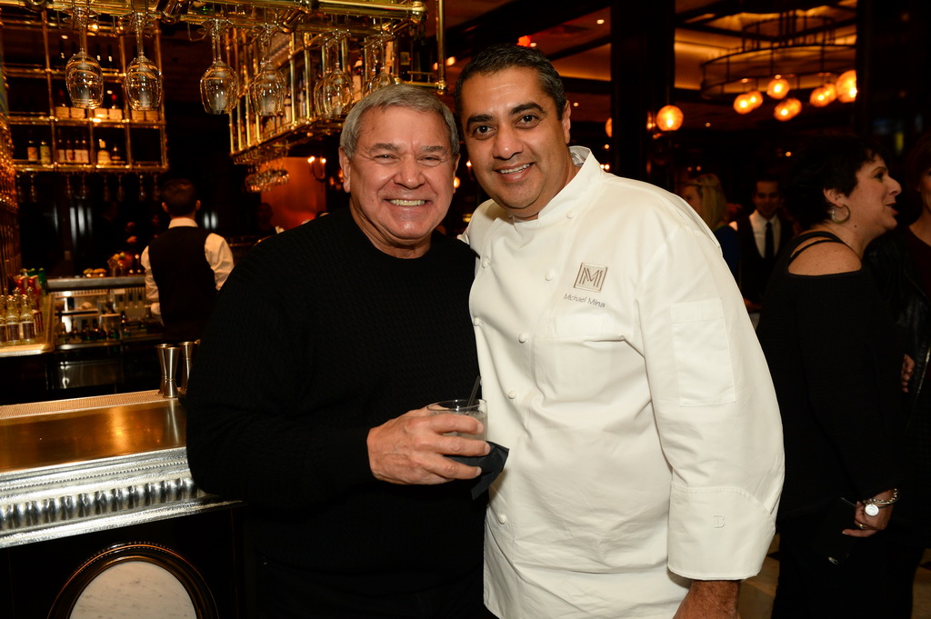 Steve Miller and Michael Mina at BARDOT Brasserie Opening 1.15.15