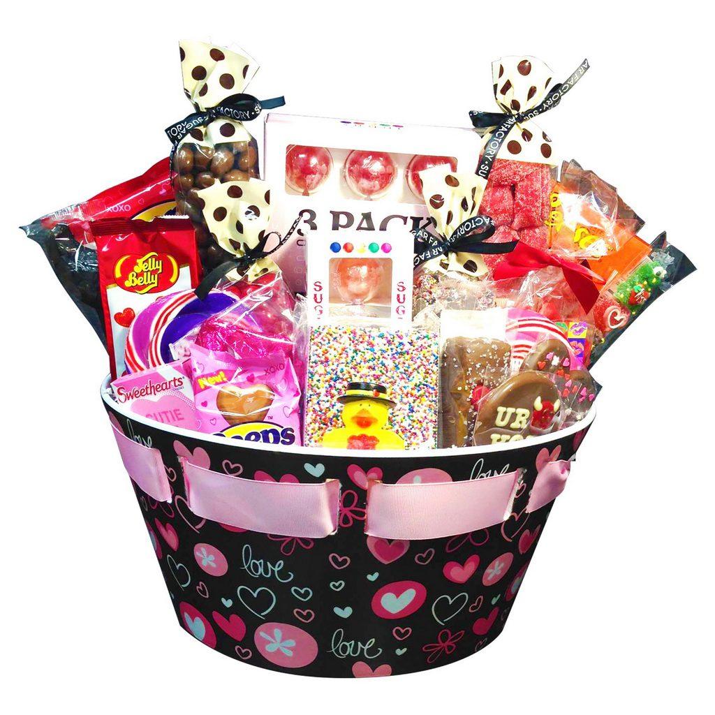 Sugar Factory Eye Catching Valentines Day Gift Baskets