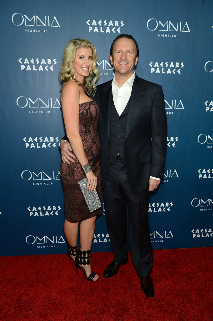 Heidi Moffitt and Neil Moffitt arrive at OMNIA Nightclub