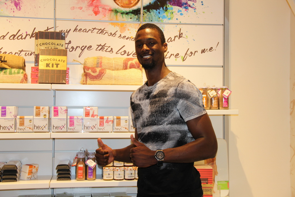 Harrison Barnes stops at HEXX kitchen bar chocolate