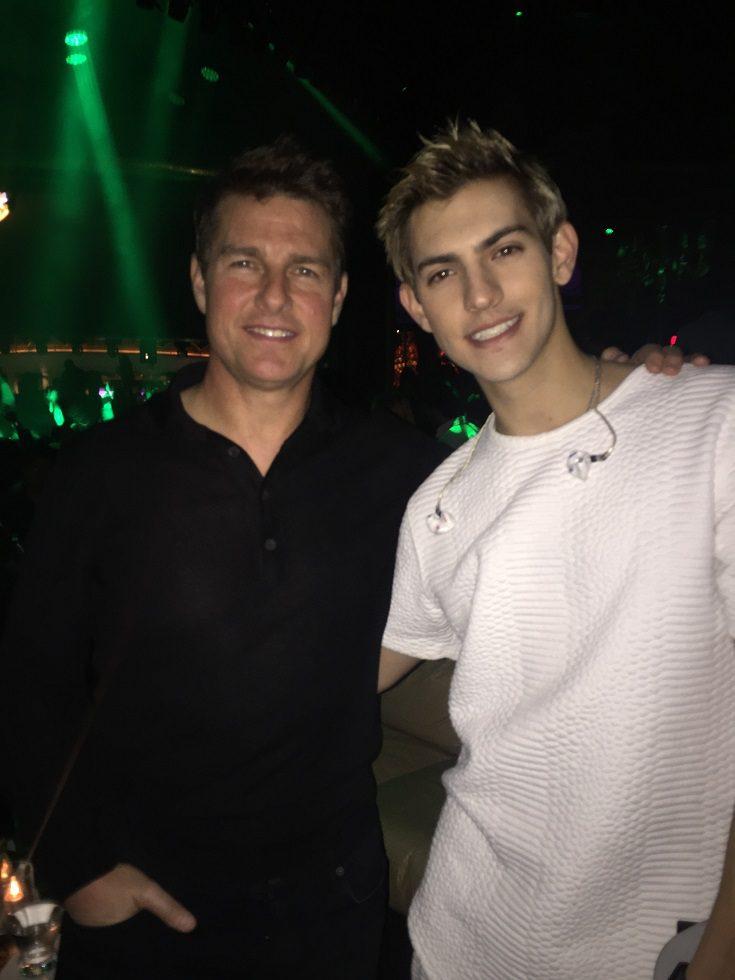 Tom Cruise and Nick Hissom at XS Nightclubs at Wynn Las Vegas