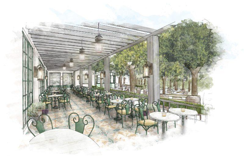 Park MGM Restaurant Terrace