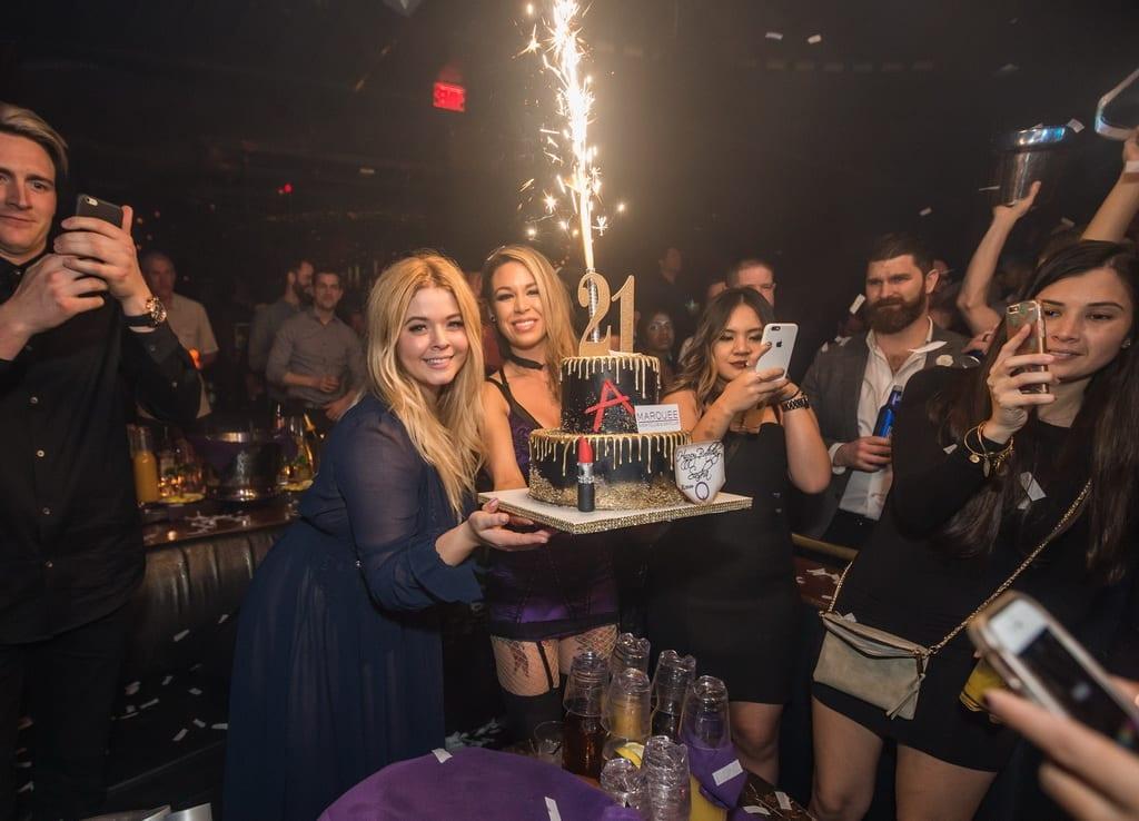Sasha Pieterse Celebrates Her Birthday at Marquee Nightclub