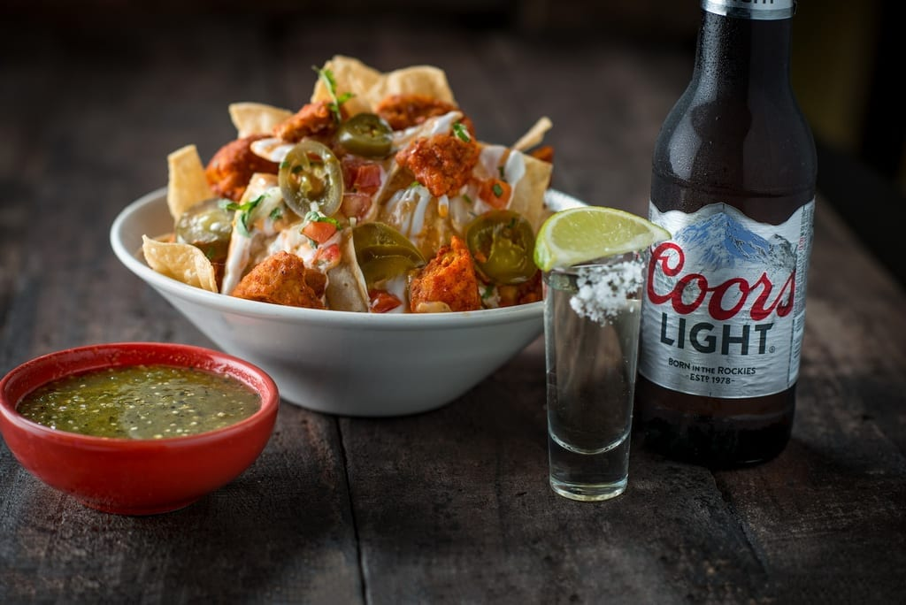 Tacos & Tequila Nachos Shot Coors