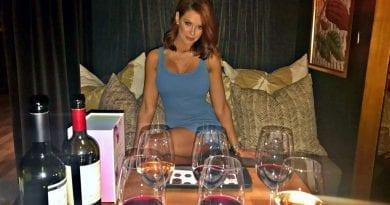 Jessa Hinton with HEXX wine and chocolate