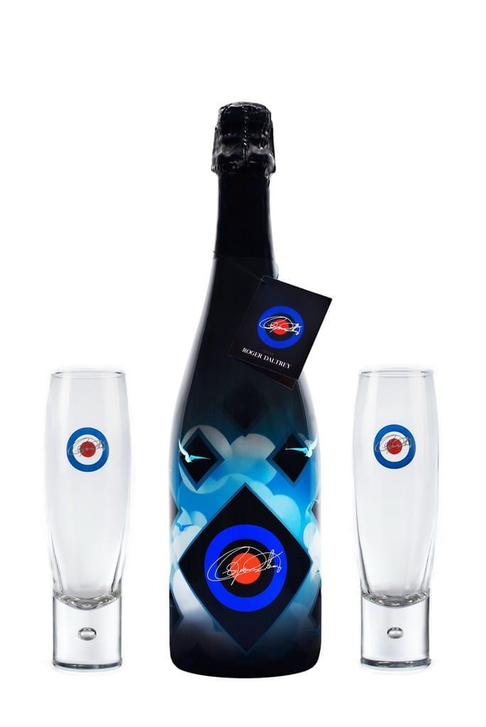 Champagne cuvee Roger Daltrey + Glasses