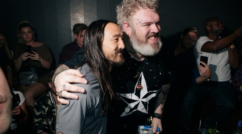 Steve Aoki and Kristian Nairn at Hakkasan Las Vegas