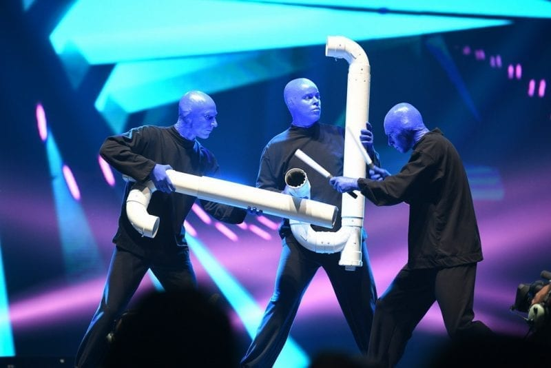 Blue Man Group Performs at Vegas Strong Benefit Concert