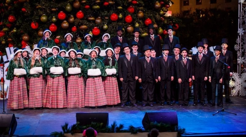 Las Vegas Academy Choir performs at Holiday at The Park