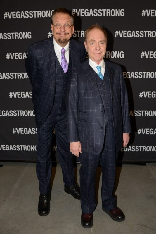 Penn & Teller at Vegas Strong Benefit Concert