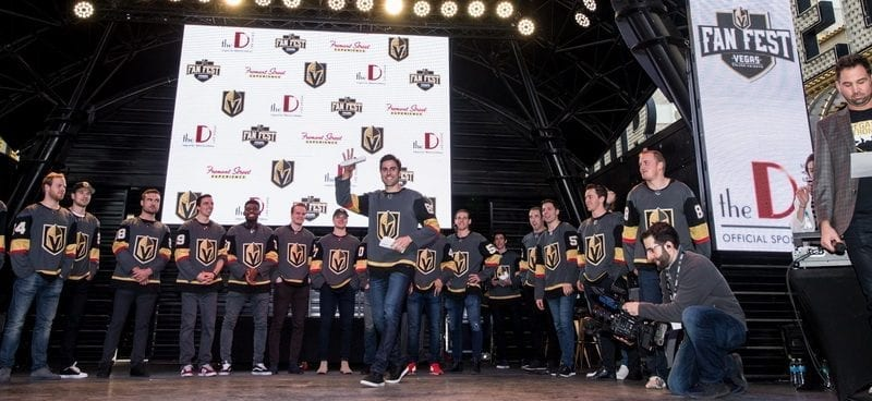 Emcee Shane Hnidy Introduces VGK Players As They Take the Stage