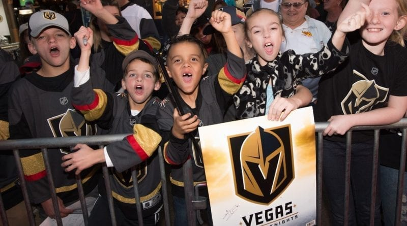 Young Hockey-Lovers Line the Red Carpet to Get a Glimpse of Their Favorite Players
