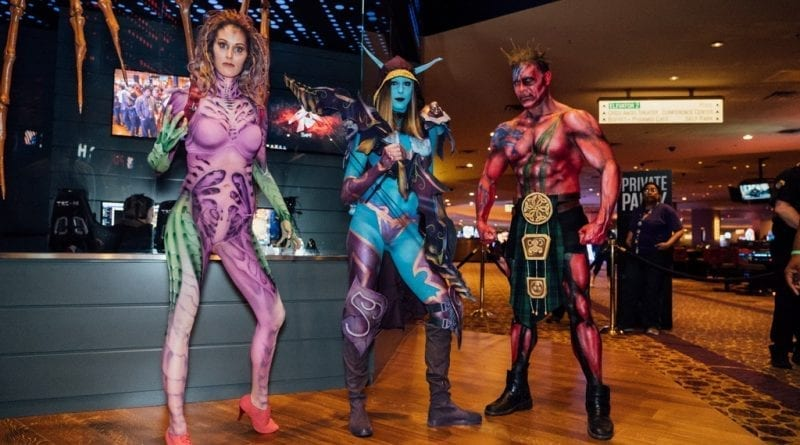 Cosplay models set the mood at the grand opening of Esports Arena Las Vegas at Luxor Hotel and Casino