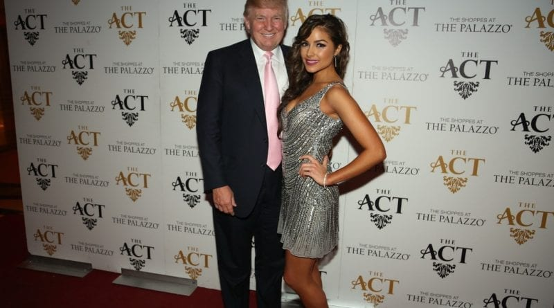 Donald Trump and Olivia Culpo on the red carpet at The ACT