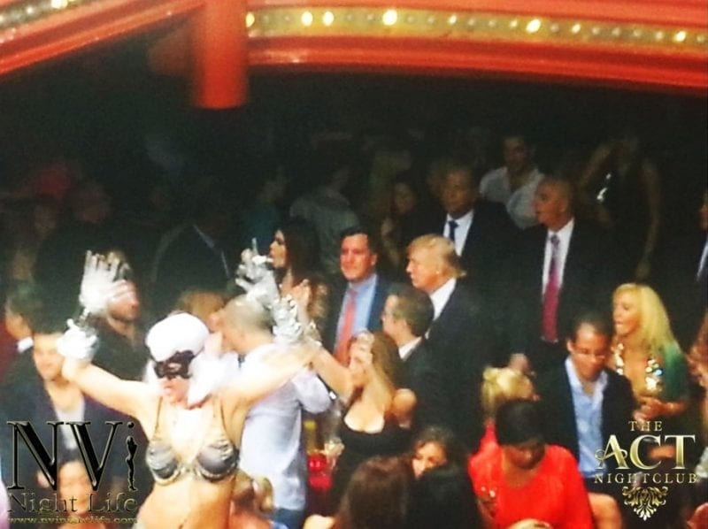Donald Trump at The Act Nightclub
