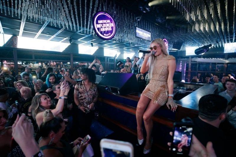 Paris Hilton Greets Fans at the Ling Ling Club Inside Hakkasan Las Vegas Nightclub