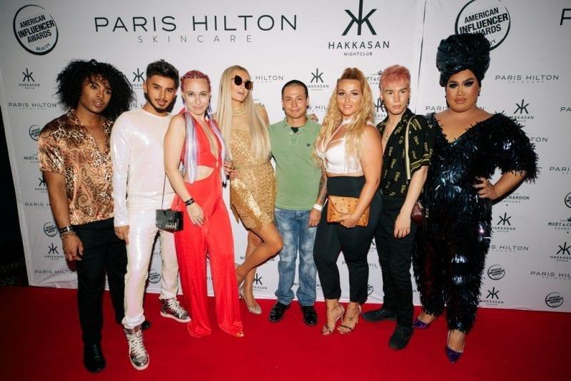 Paris Hilton and Beauty Influencers at Hakkasan Las Vegas Nightclub