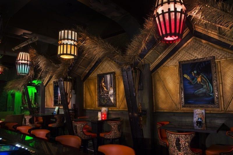 The Golden Tiki interior