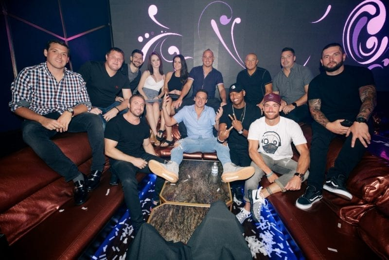 Ryan Lochte at Hakkasan Las Vegas Restaurant and Nightclub
