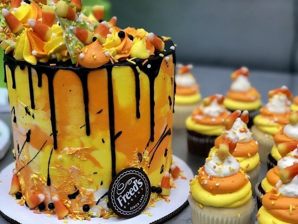 Freed's Bakery Candy Corn Cake