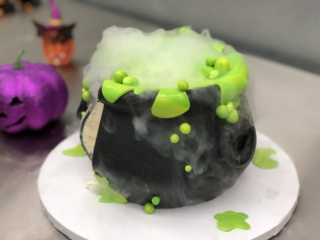 Freed's Bakery Smoking Cauldron Cake